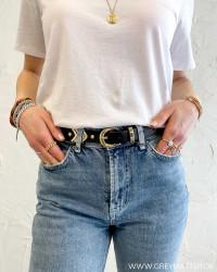 Pcmanda Black Gold Jeans Belt