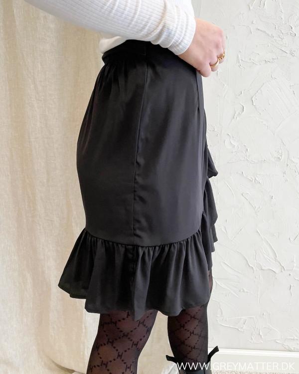 Only nederdel i sort