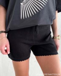 Vilesly Black Knit Shorts
