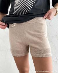 Vilesly Natural Melange Knit Shorts