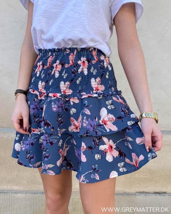 Blomsterprint nederdel fra Only