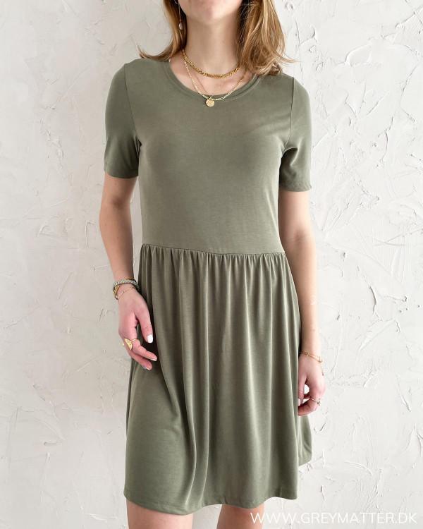Pieces kjole i grøn