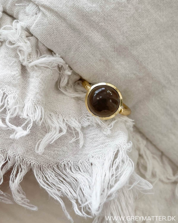 One size ringe med smoke sten