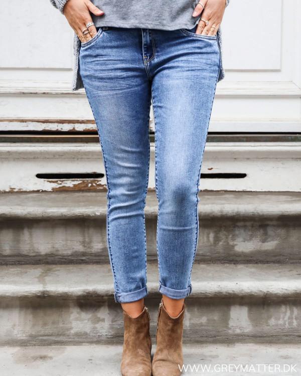 Washed Blue Denim Jeans