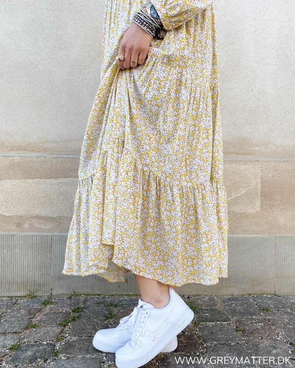 Lang kjole i viskose