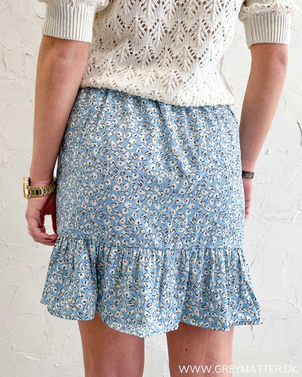 Only nederdel i blå med print