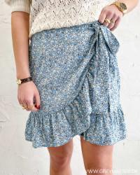 Onlolivia Dusk Blue Wrap Skirt