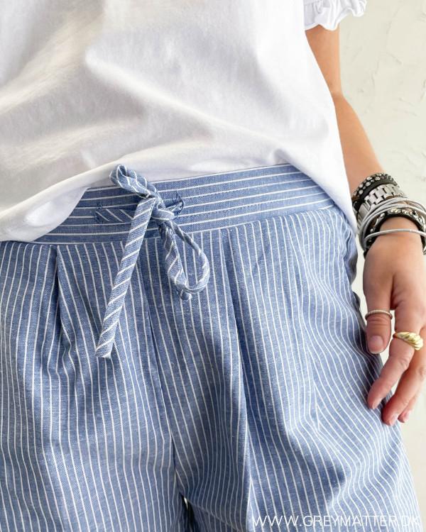 Shorts med striber til damer