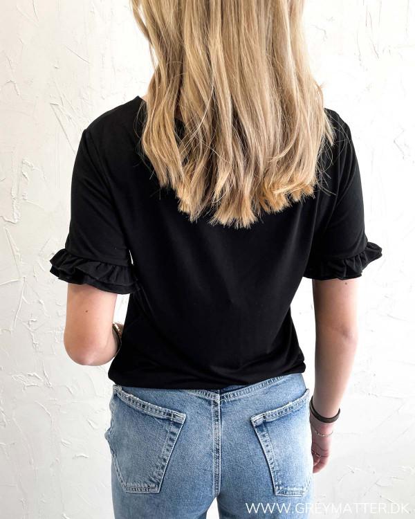 Sort t-shirt til damer