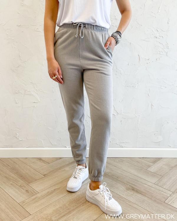 Jogging bukser til damer i washed kvalitet