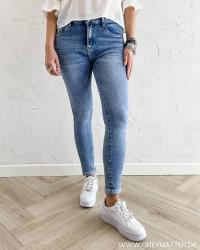 Highwaist Blue Fold Up Jeans