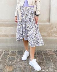 Vihevia Cloud Dancer Midi Skirt