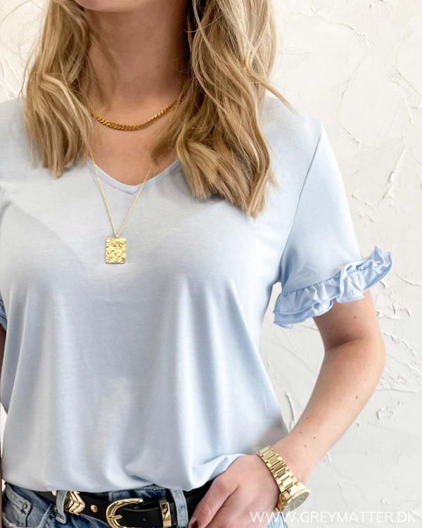 Lyseblå t-shirt til damer