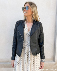 The Black PU Leather Jacket