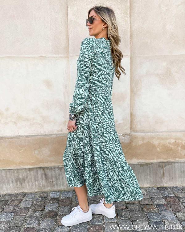 Midi dress med blomsterprint