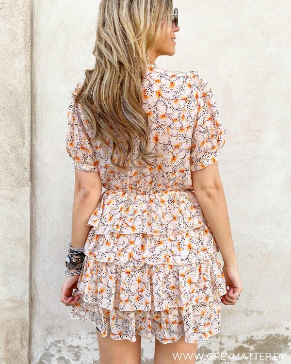 Flæse kjole med print