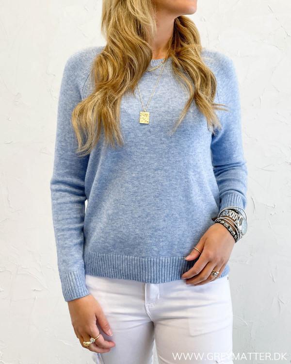 Blå bluse til damer fra Only