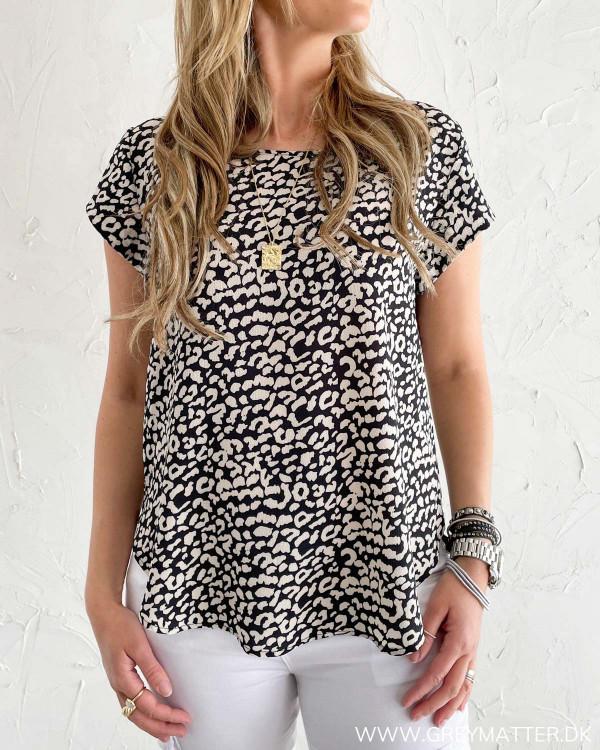 Only bluse med leopard print