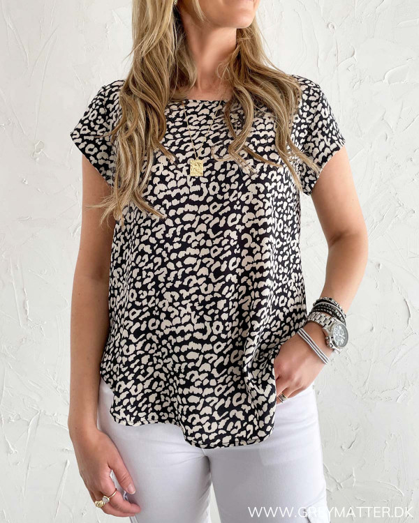Leopard bluse til damer fra Only