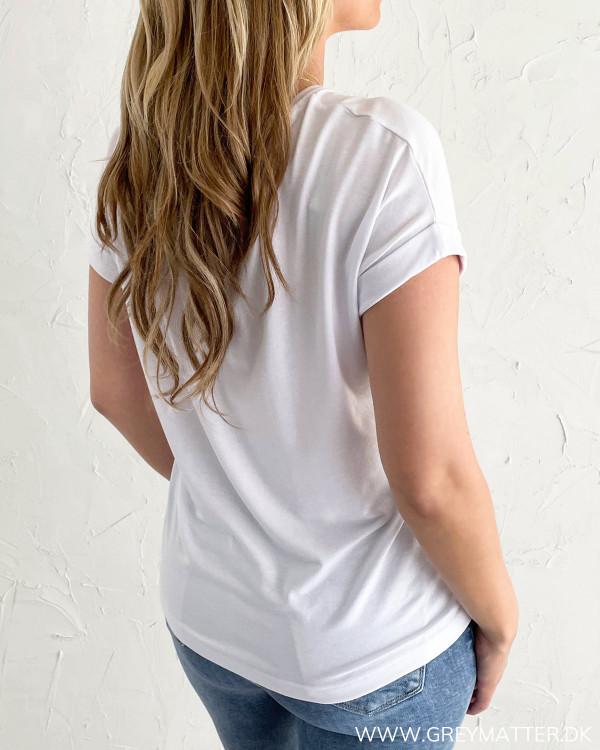 T-shirt i hvid til damer