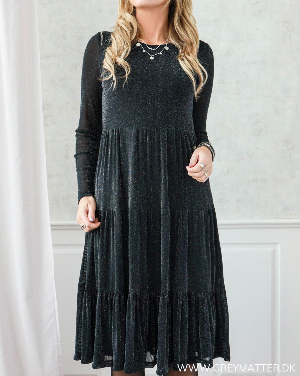 Vidavis Black Silver Glitter Dress
