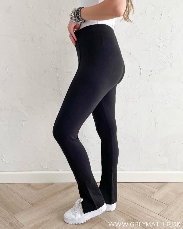Sorte bukser med høj talje fra Only
