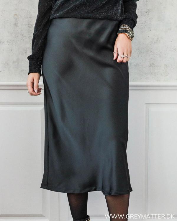 Lulla Sateen Black Skirt