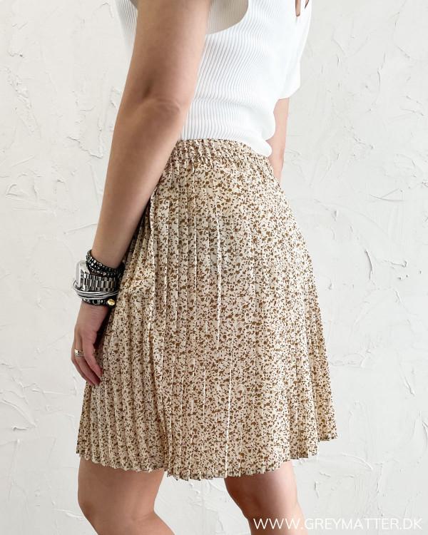 Plisse nederdel fra Vila med print