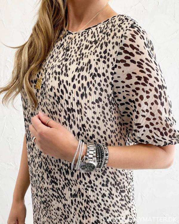 Pieces leopard kjole