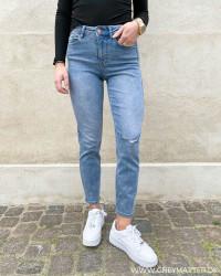 Pclili Slim Light Blue Denim MW Jeans