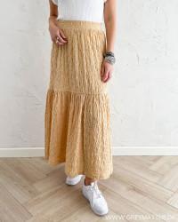Pctamia Almond Buff Ankle Skirt