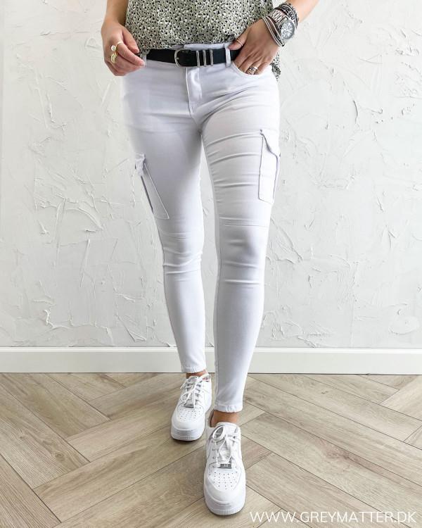 Cargo bukser til damer i hvid