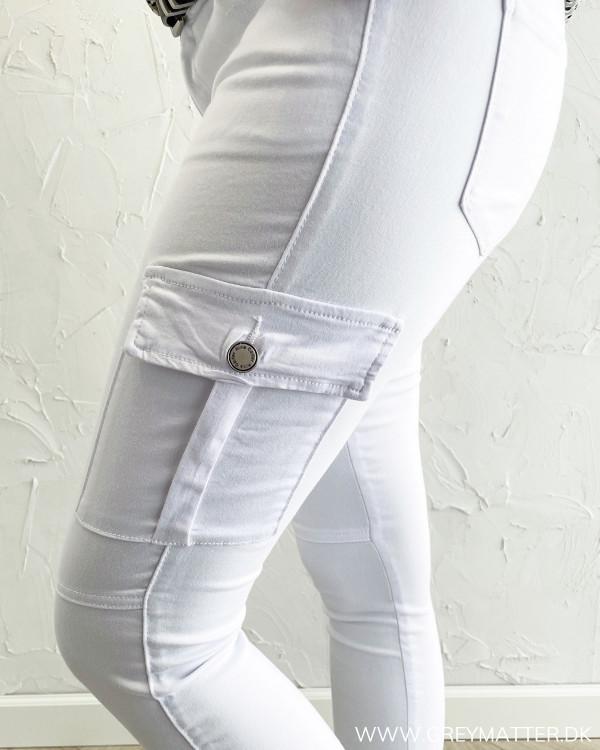 Cargo pants til damer i hvide