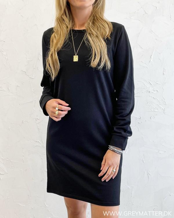 Sort sweatshirt kjole fra Only