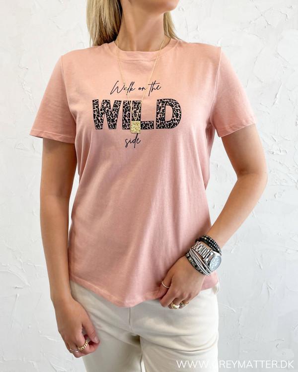 T-shirt med print til damer