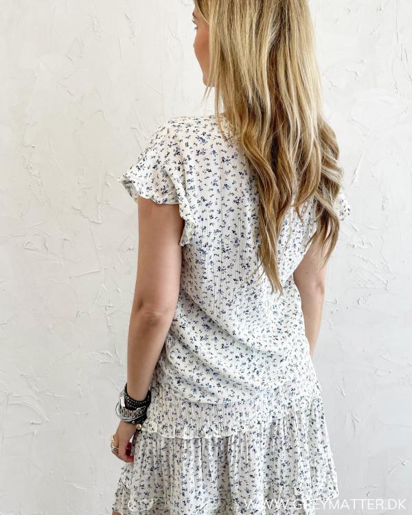 Kort ærmet bluse til damer med print