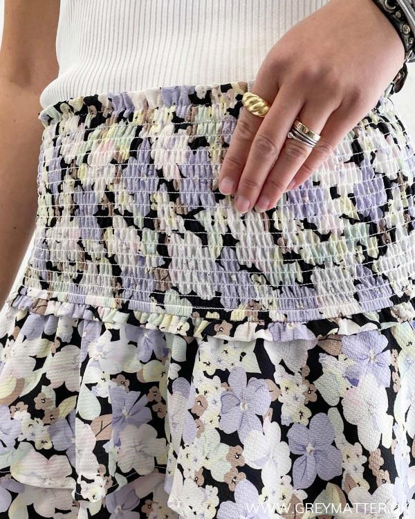 Nederdel med elastik i taljen