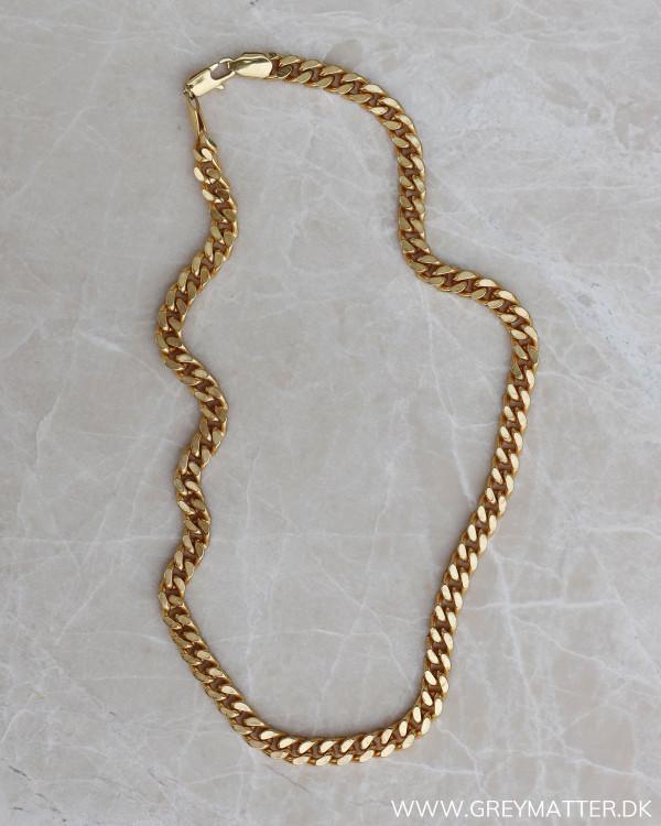 Panzer halskæde til damer i guld fra Pure By Nat