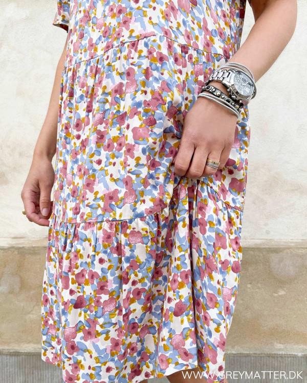 Pieces kjoler med farvet print