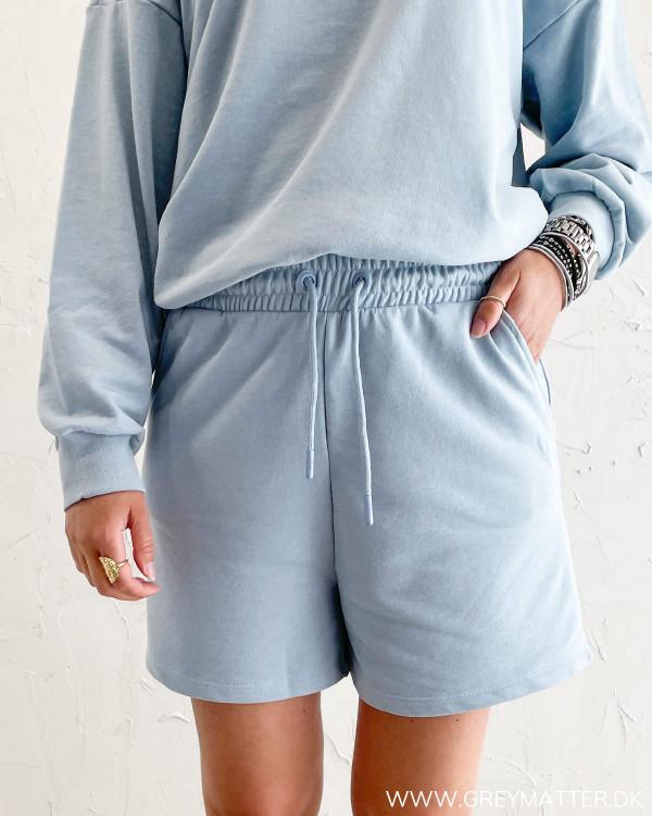 Sweat shorts til damer i lyseblå