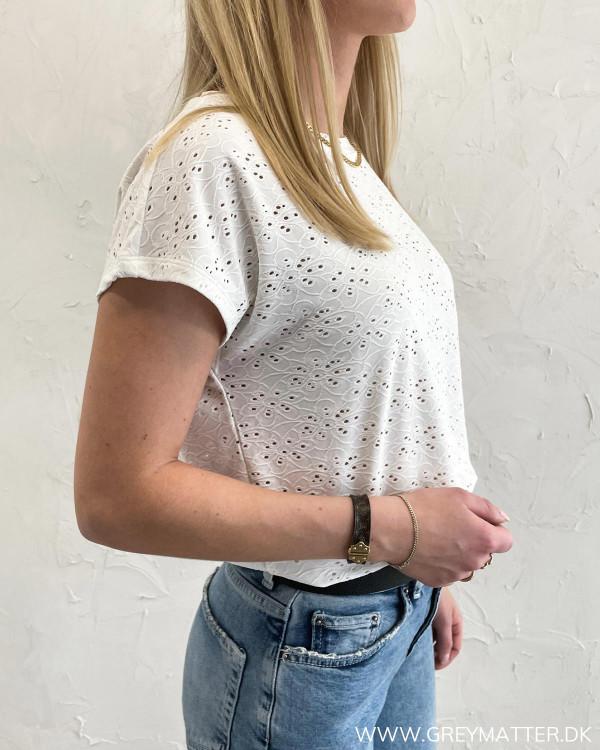 Hvid blonde t-shirt