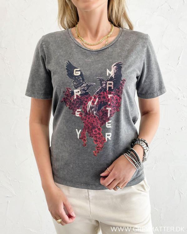 Eagle t-shirt med print