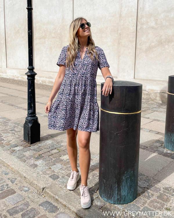 Tunika kjole med print fra Only