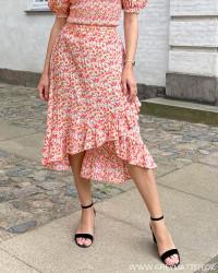Pcbali Fiesta Flower Midi Skirt