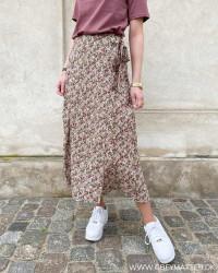 Onlrose Tannin Midi Wrap Skirt