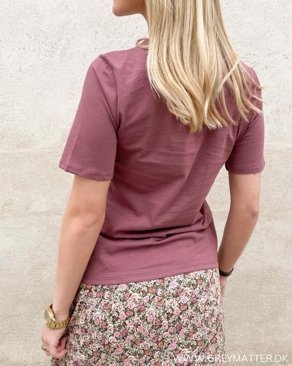 T-shirt med korte ærmer og rund halsudskæring fra Only