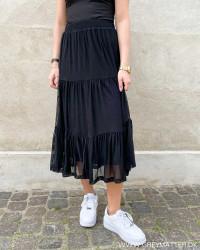 Vidavis Black Midi Skirt
