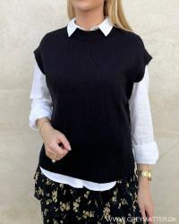 Onlmatilda Black S/L Knit Vest