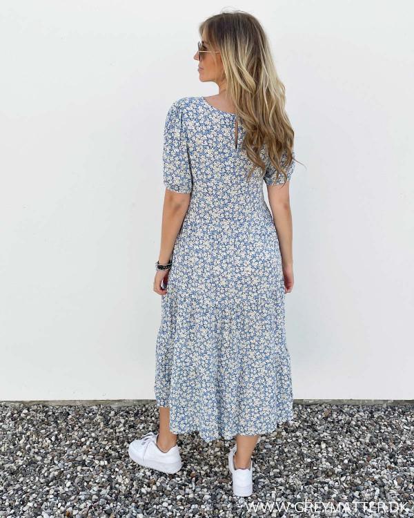 Midi kjole fra Pieces med print