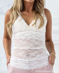 Sheila Off-White Lace Top